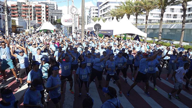 Circuito Sest Senat de Caminhada e Corrida de João Pessoa se destaca pela organização, animação e participação maciça dos atletas nas ações do evento