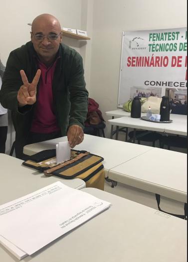 PARAIBANO É ELEITO SECRETÁRIO GERAL, DA FEDERAÇÃO NACIONAL DOS TÉCNICOS.
