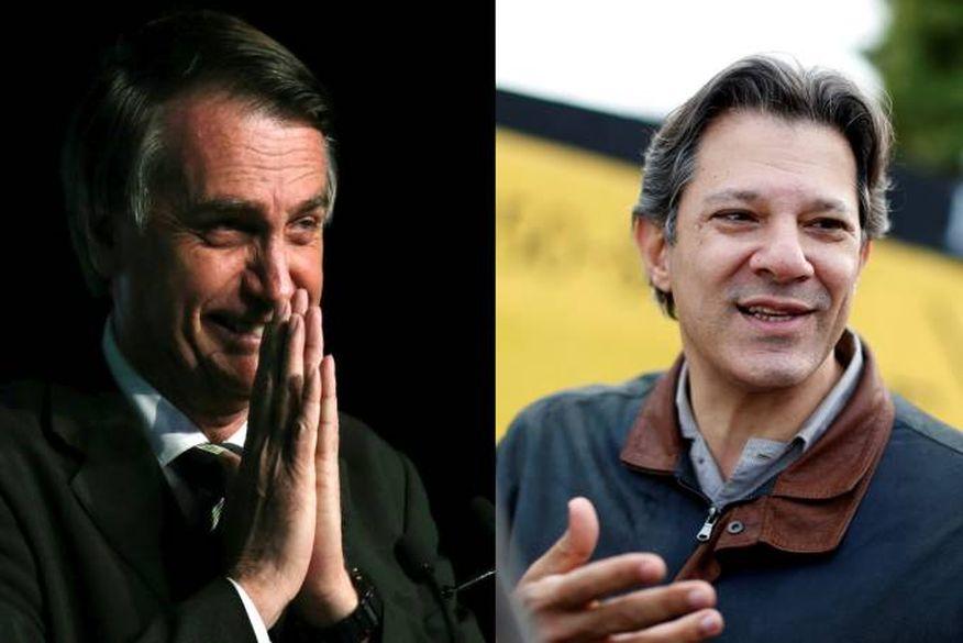 Bolsonaro sobe para 33% e Haddad salta para 16% em nova pesquisa BTG/FSB