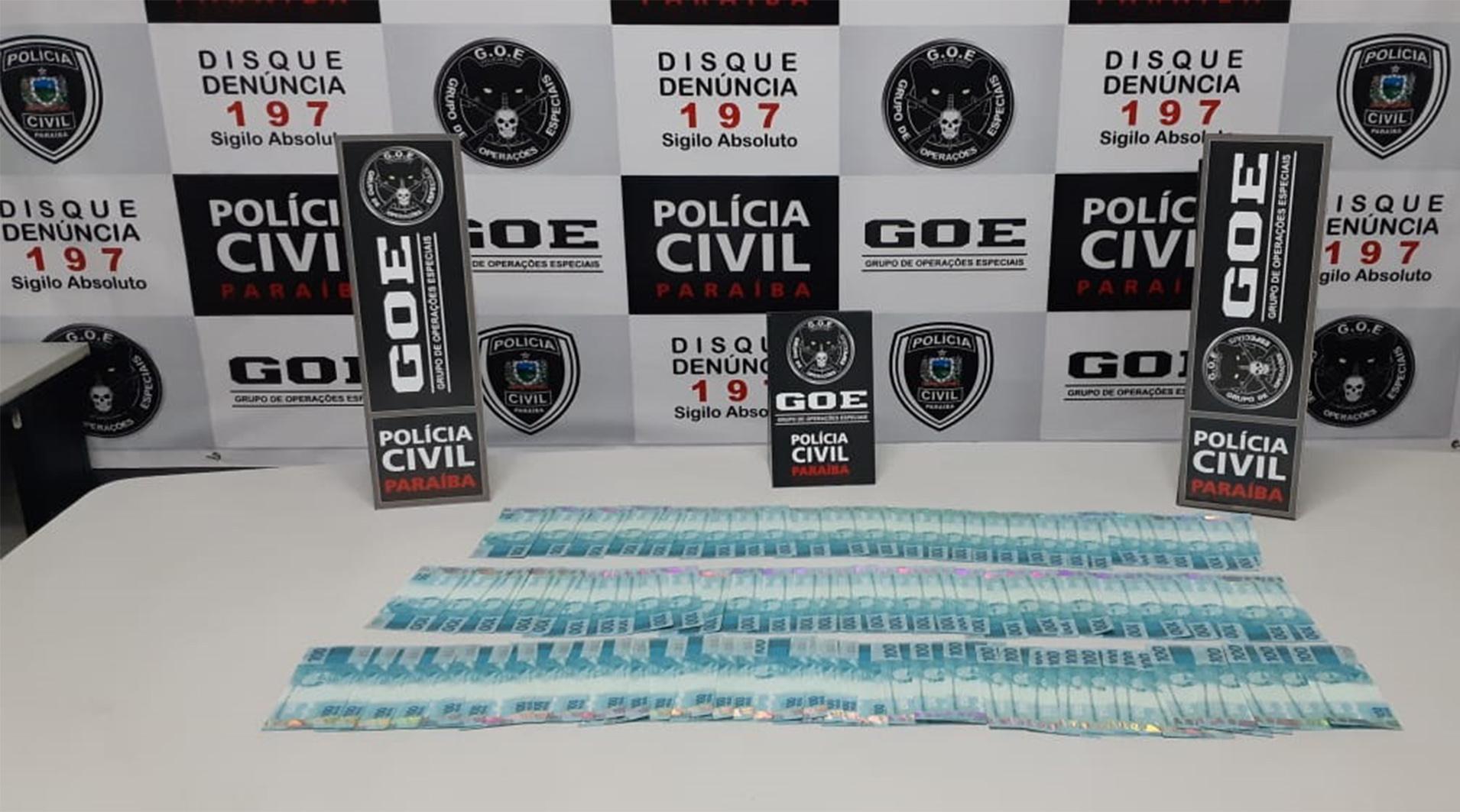 Grupo de Operações Especiais da Polícia Civil prende homem com R$ 10 mil em notas falsas