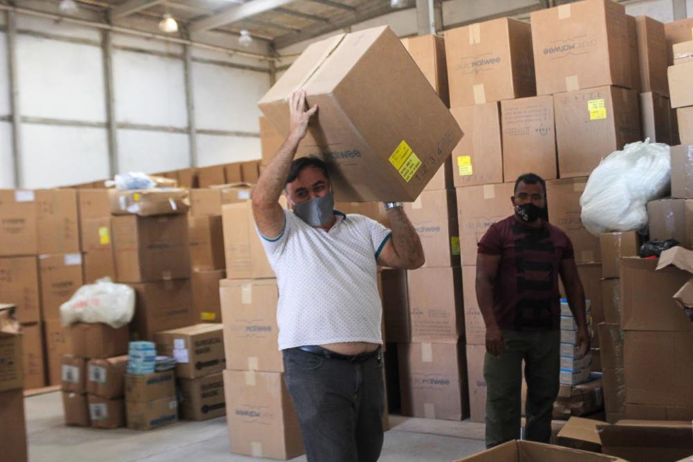Paraíba recebe doação de respiradores, máscaras e EPIs para combater o novo coronavírus